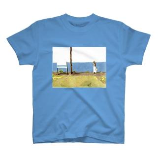 下灘駅ver2 Tシャツ