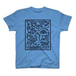 Passing Tree 透過・黒線 T-shirts