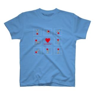 けん玉らぶ(赤/白枠) T-shirts