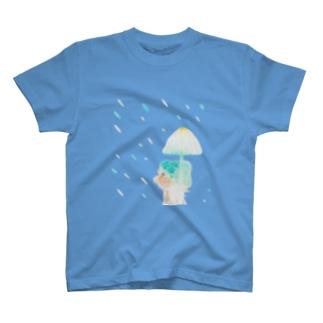 気まぐれな雨 T-shirts