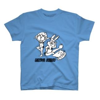 ミスコン審査中に思い思いのポーズをとって審査員にドン引きされるサゲスミン王子たち T-shirts