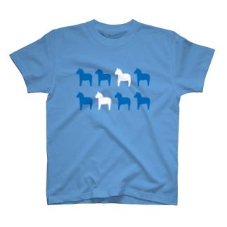 ダーラナホース ブルー T-shirts
