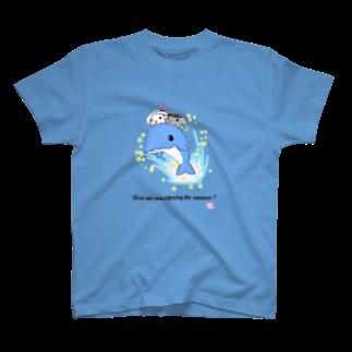 しっぽくらぶのイルカにのったチンチラさん T-shirts