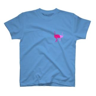 愛すべき2羽(ピンク) T-shirts