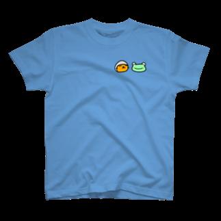 のびネコねこハウスSHOPのつゆのまものとかえるくん T-shirts