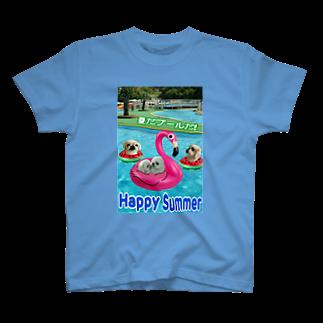 みにゃのペキッコ倶楽部(夏だプールだ) T-shirts