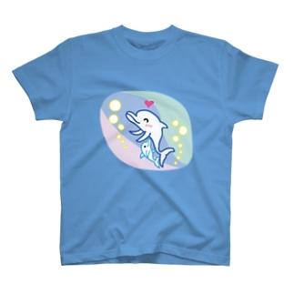 イルカの親子 どるどるふぃん  T-shirts