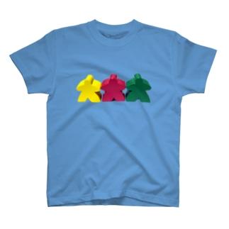 スリー・ミープルズ(横) T-shirts