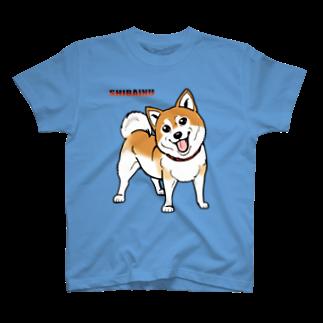 MINORITY ROOMの柴犬・Tシャツ(saxe) T-shirts