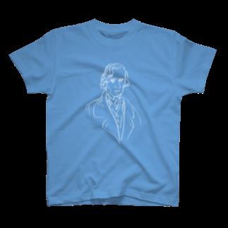 音楽愛好家協会「こんごう」 の【ショパン】-ホワイト T-shirts
