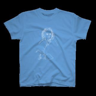 音楽愛好家協会「こんごう」 の【バッハ】-ホワイト T-shirts