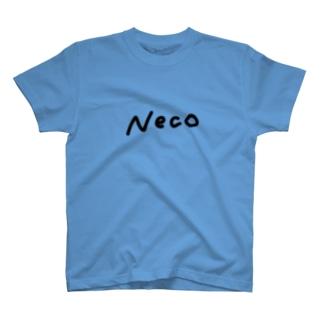 Neco ロゴ / 黒 T-shirts