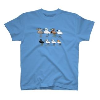 ドットでサギ類 T-shirts
