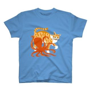猫とタコ T-shirts