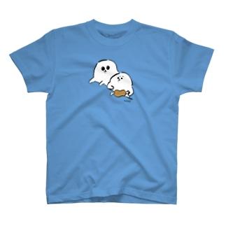 隣の食べ物が気になるあざらいぬ T-shirts