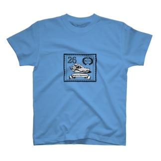 すけすけ切手風鰐頭蓋骨くん T-shirts