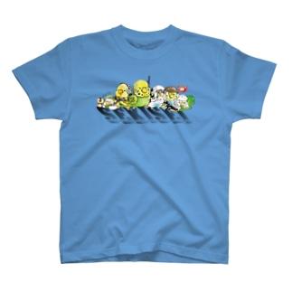 やる気満々セキセイ部隊 T-shirts