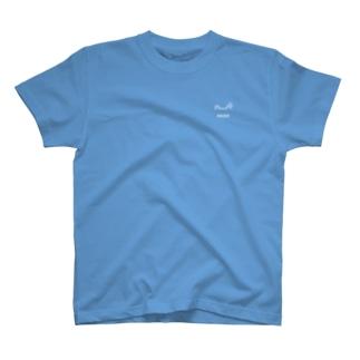 しろかえるんるん(濃色用) T-shirts
