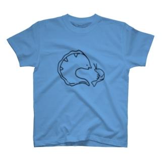 共生中のうつぼとえびー逆ver. T-shirts