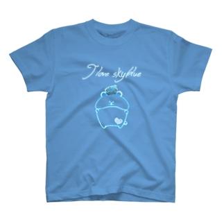 《ネオンシリーズ》*I love sky blue*べあ* T-shirts