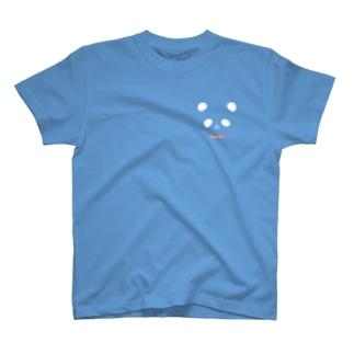 カラフル蝶ネクタイ パンダ(白目) T-shirts