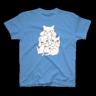 やとりえ-yatorie-の3にゃいねこ T-shirts