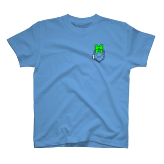 ポケットからぴょこっとかえるぴょこ T-shirts