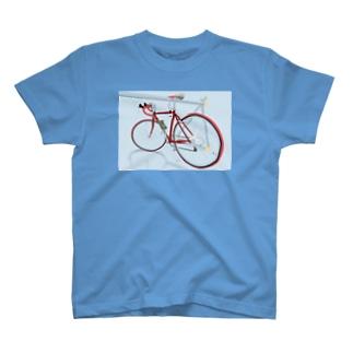 赤いロードバイク T-Shirt