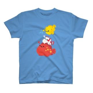 もちもちカエルアンコウ's T-shirts