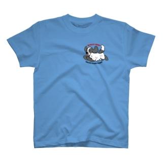 ブルーローン【ファンキーコッカー】 T-shirts