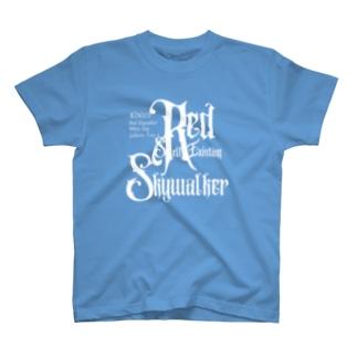 KIN173赤い自己存在の空歩く者 T-shirts