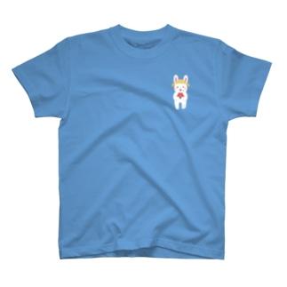ワンポイント夏ウサギさん T-shirts