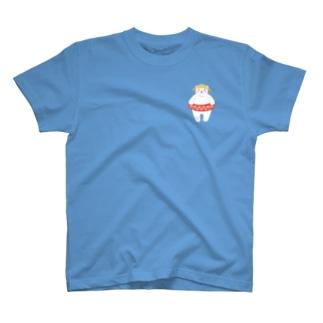 ワンポイント夏ホッキョクグマさん T-shirts