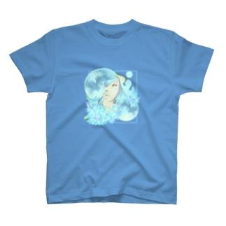 紫陽花と月夜の散歩 T-shirts