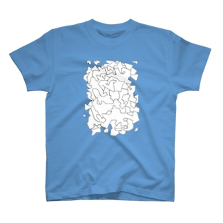 cloud block T-shirts