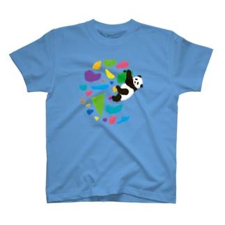 GO CLIMB PANDA T-shirts