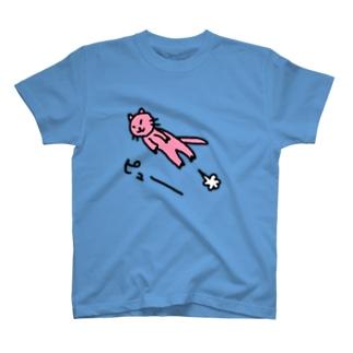 飛んでる猫 T-shirts