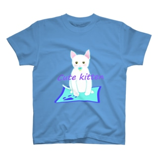 Cute kitten ブルー系 T-Shirt