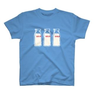 3本ミルク Tシャツ