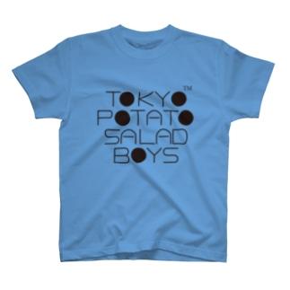 東京ポテトサラダボーイズ公式ネオクラシックロゴ Tシャツ