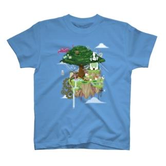 ヌートンドット絵(カラー) T-shirts