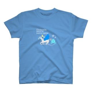 oguogu牧場SUZURI店のシンデレラは急いでお城に向かいました。 T-shirts