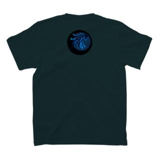ナイトツアー@iriomote(青ヤシガニ)バックプリント T-shirts