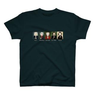 音楽室の肖像画 T-shirts