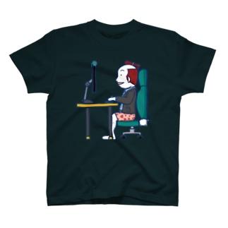 Remote Working Boy/濃色Tシャツ T-shirts