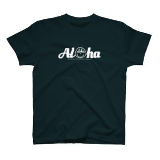 Aloha スマイル 156 (whiteロゴ) T-shirts