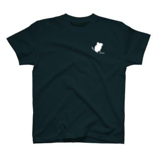 ちょこんとデグーシルエット T-shirts