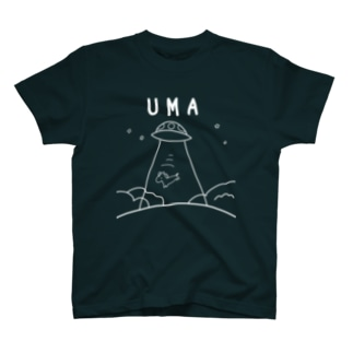 UMAアブダクション(濃いめ色Tシャツ用) T-shirts
