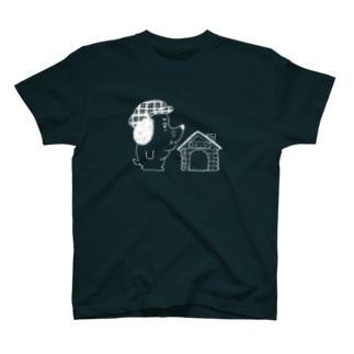 犬小屋の経営者(しろせん) T-shirts