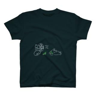 夏の日の馬(濃い色T用) T-shirts